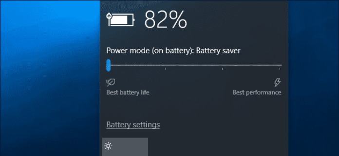 Windows Battery - Laptop Plugged