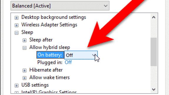 Hybrid Sleep in Windows