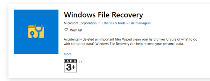 Recover Deleted Files Using Windows Files Recovery Tool