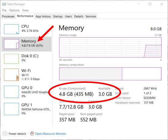 How Much Ram Do I Have on Windows 10 (2)