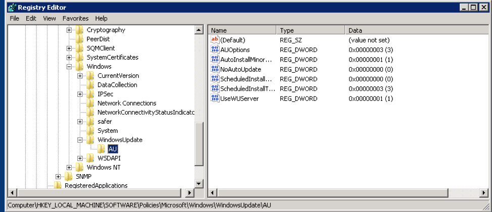 Targeting WSUS Client to Communicate with the WSUS Server