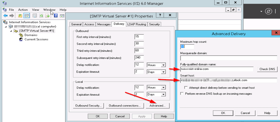 Configuring WSUS Email Notification to Work With Office365
