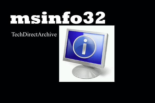 msinfo32 thumbnail