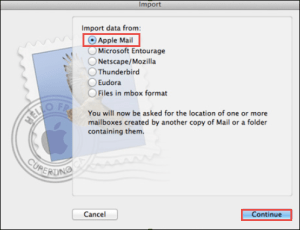 import data from apple mail