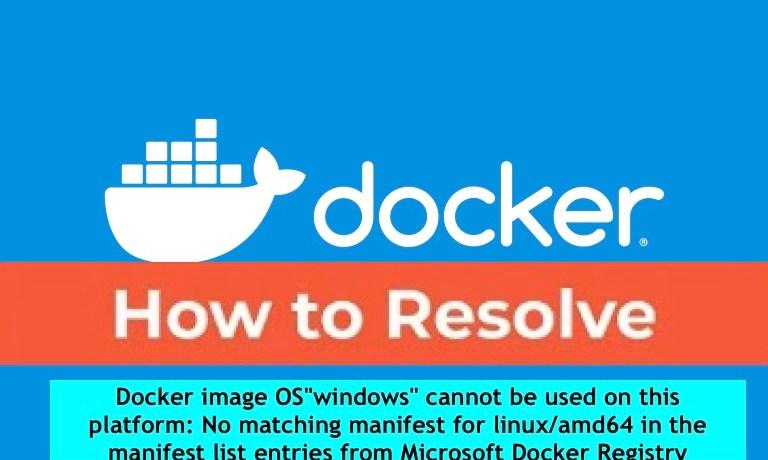 Docker-error-manifest