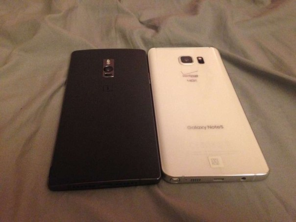 Galaxy Note 5 OnePlus 2 Side-by-side