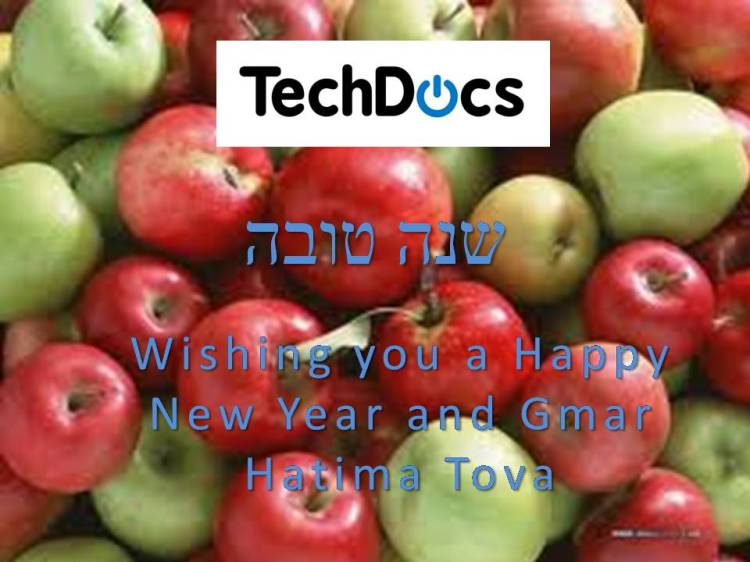 TechDocs Wishes all it's Clients Happy Jewish New Year