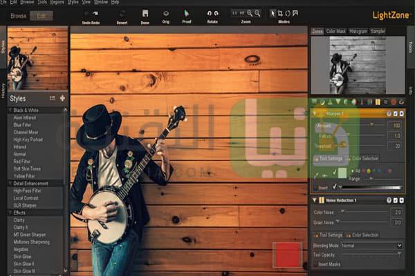 برنامج تعديل الصور LightZone