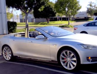 Convertible Tesla Model S!? YES PLEASE.