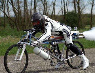 Rocket-Powered Bicycle Reaches 207 mph