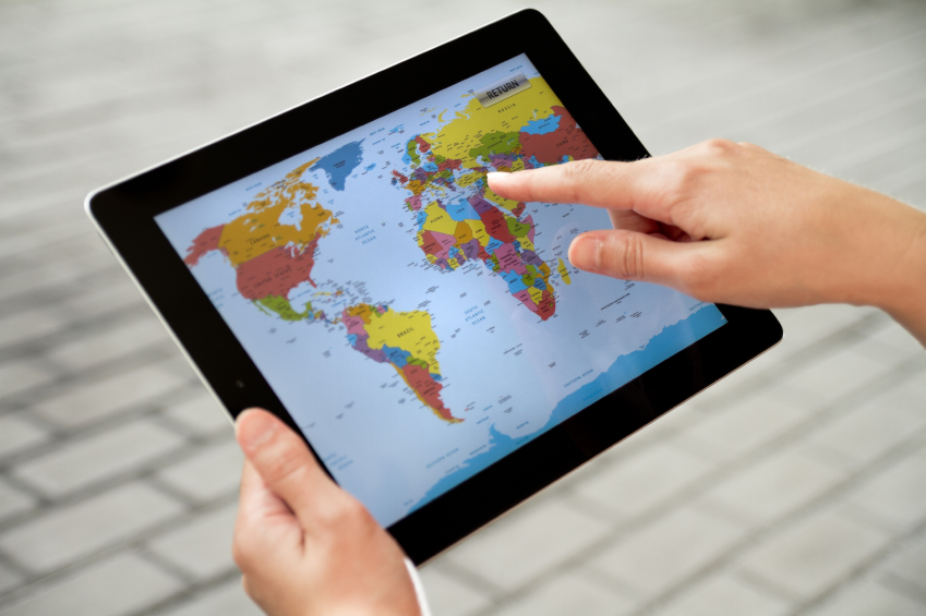 Top 10 travel apps techdrive using world map on apple ipad2 gumiabroncs Gallery