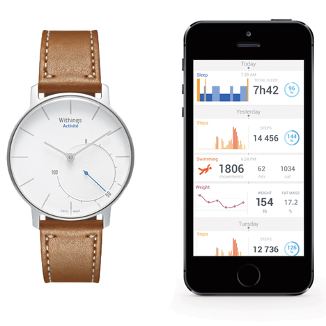 Withings-Activite-silver-with-app