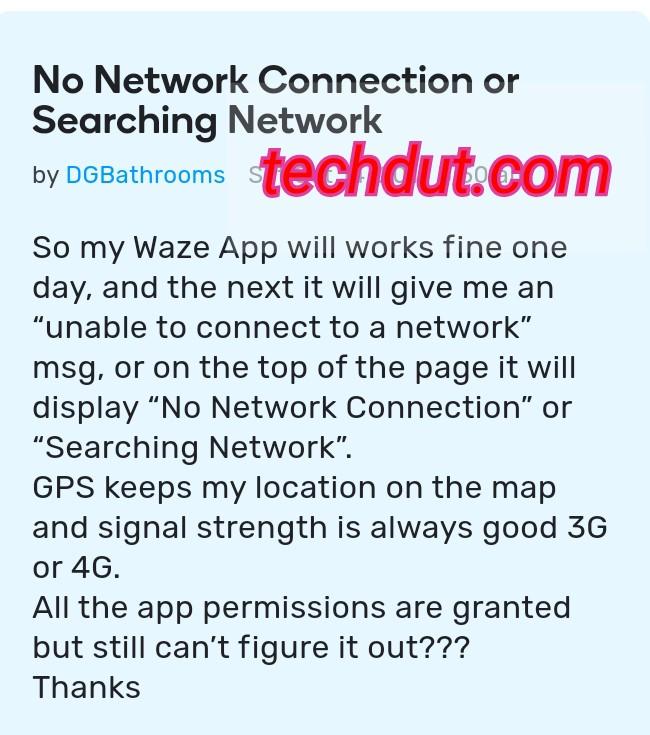 """How To Fix """"Waze No Network Connection Problem In One Minute"""
