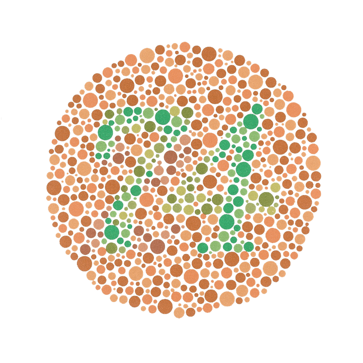 Number 74 in a circle made of coloured dots