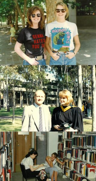 Photos of Susan at Macquarie in the 80s