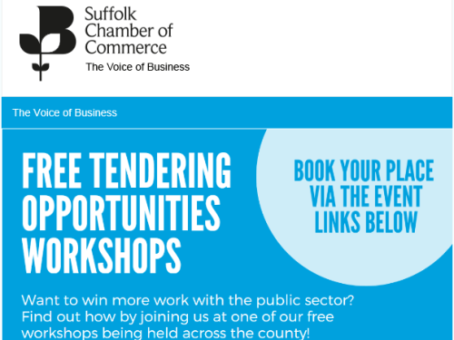 Suffolk Chamber Public Sector Tender Workshops