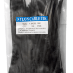 """8"""" Nylon Cable Ties  *with hole at top  – Bag of 100 White or Black"""