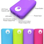 OOBA 7800 mAh Power Bank with LED Flashlight (Neon Colours)