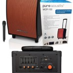 Pure Acoustics Portable Bluetooth Speaker, Karaoke Machine & Guitar Amp* with Wireless Mic