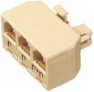 RJ11 (Phone) 3-Way Splitter Ivory