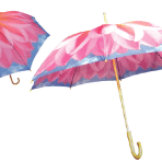 SkyFlowers by Harold Feinstein Pink Dahlia 48″ Wooden-Handle Umbrella