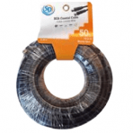 SD 50'/15.2M RG6 Coax Cable with Ends – Black