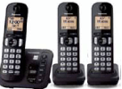 Panasonic Cordless Answering System with DECT 6.0, 3 Handsets