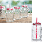 Cocla-Cola Country Classic 4pk 20oz Handled Glass Mason Jar with Lid & Straw