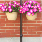 Fusion Solar Lamp Post with Planter Base & Hanging Hooks