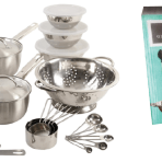 Gibson Home Total Kitchen 27-Piece Grantsville Stainless Steel Cookware & Kitchen Tool Combo Set