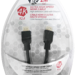 2M / 6.6′ TES ULTRA HIGH SPEED 4K HDMI V2.0 CABLE with ETHERNET