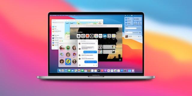 macOS Big Sur on MacBook