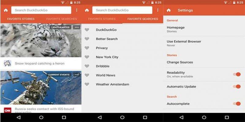DuckDuckGo - secure mobile browser