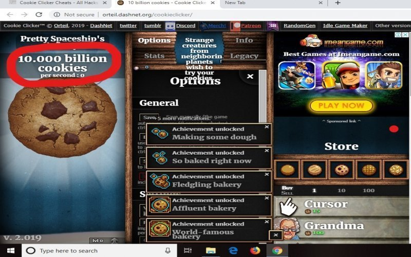 cookie clickers cheats