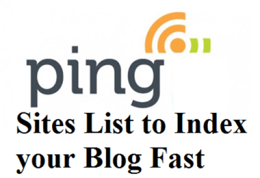 Free Top High PR 7- PR 1 Ping Sites List of 2016