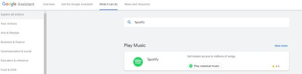 Spotify in Google Home