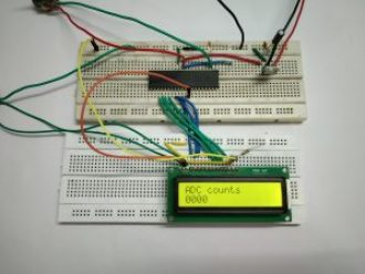 Following image shows adc counts on LCD.