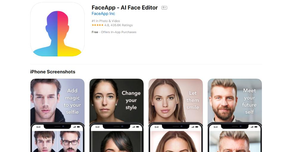 FaceApp gives client information - Techexpedia