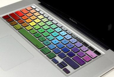 Rainbow keyboard Macbook pro decal