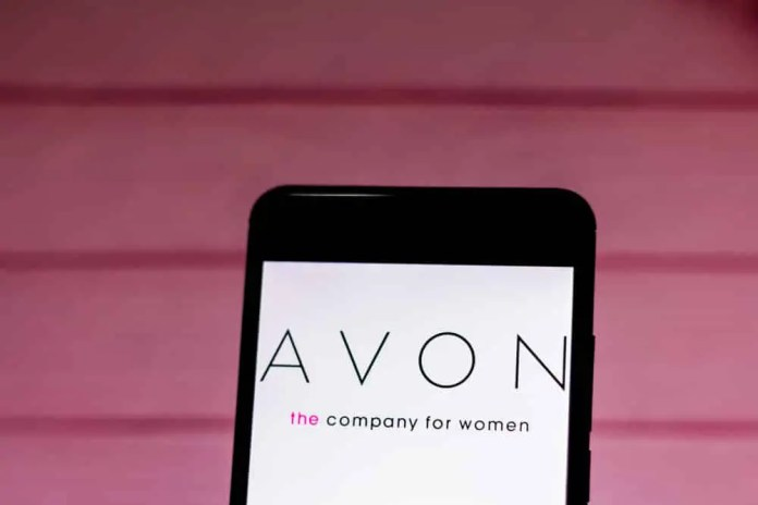 Avon logo on mobile.