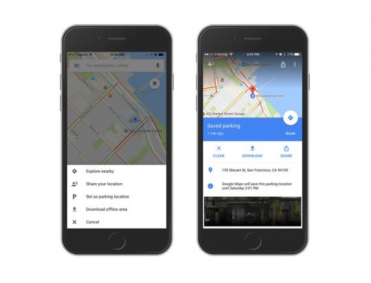 Google Maps Parked Car Features on Any iPhone: