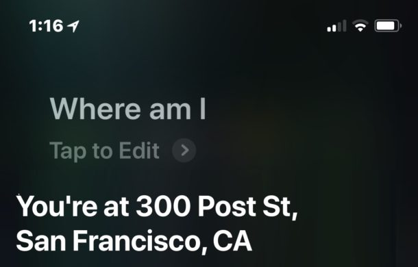 Get Home If you Get Lost ! Siri Will Help You: