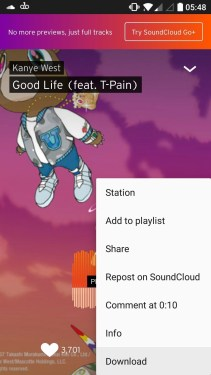 download music from soundcloud mobile app