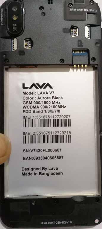 Lava V7 Flash File