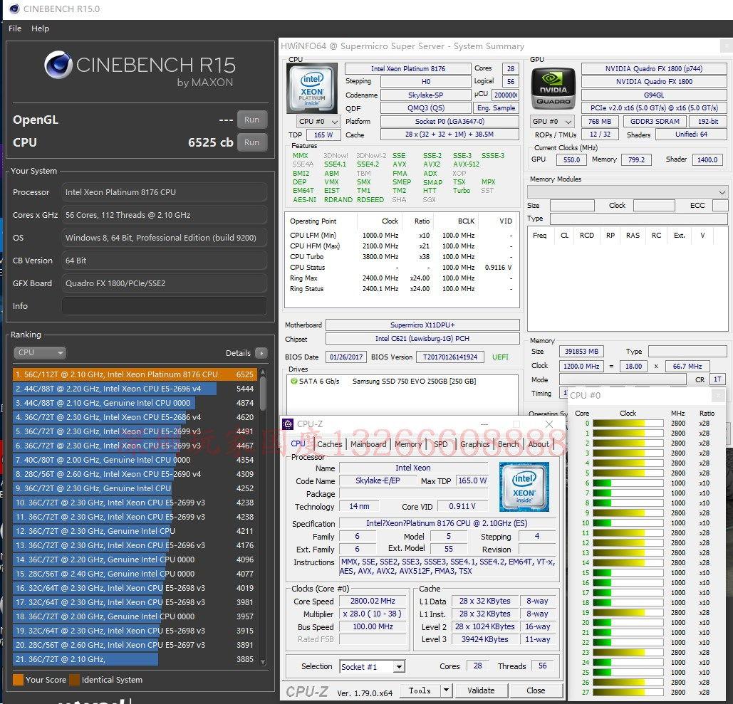 Intel Xeon Platinum 8176