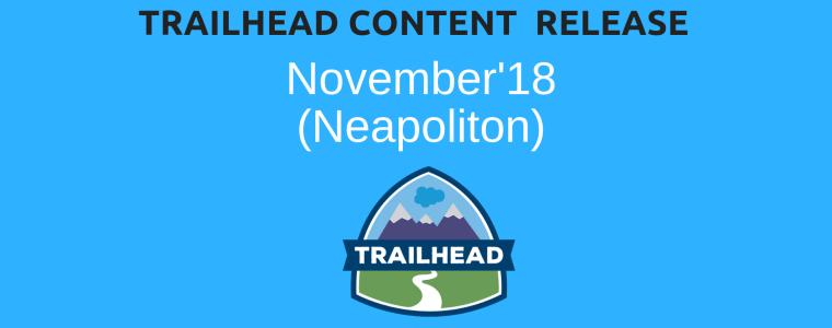 Trailhead Nov18 Content Release - Techforce Services