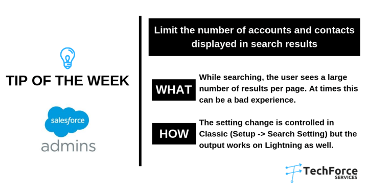 Salesforce weekly tips limit the number