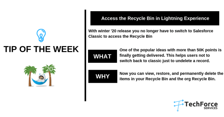 Salesforce  weekly Tips access the recycle bin