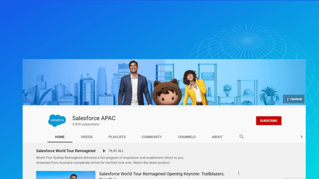 salesforce APAC youtube channel