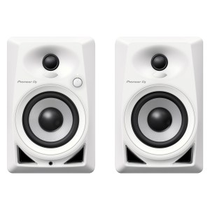 Pioneer DM-40 Active Monitor Speakers, White